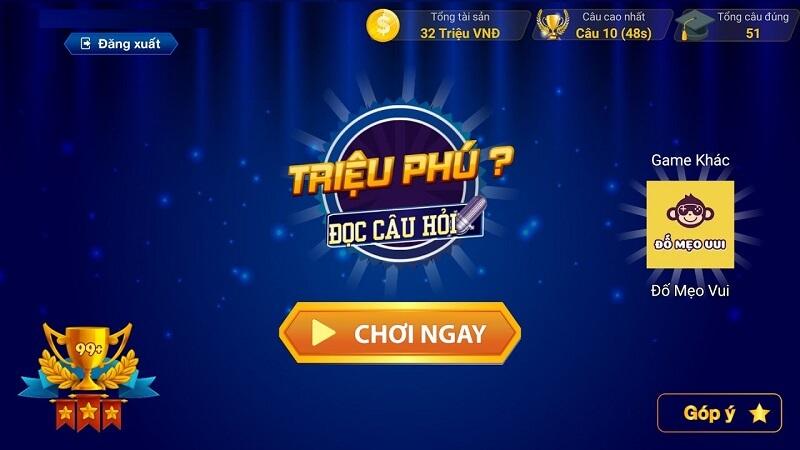 Game đi tìm triệu phú - Hành trình chinh phục tri thức online