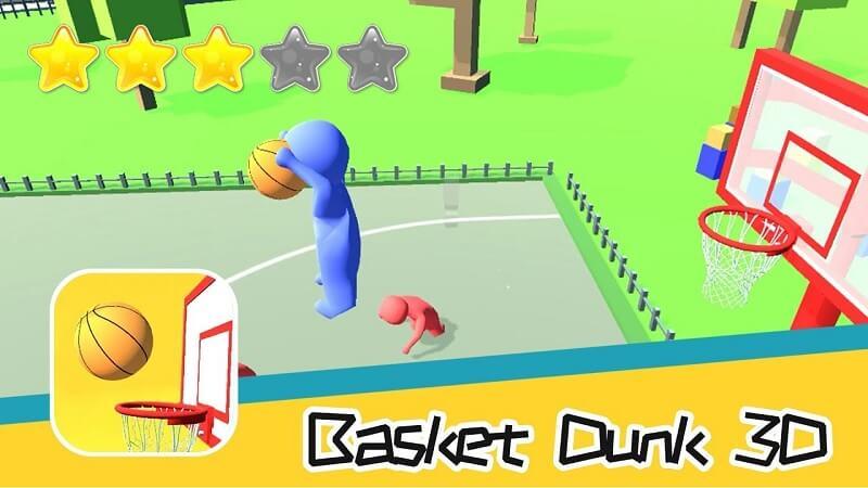 Trải nghiệm Game Basket Dunk 3D để thỏa đam mê bóng rổ