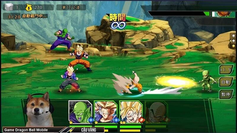 Chơi game Dragon Ball Mobile đỉnh cao luôn dành chiến thắng