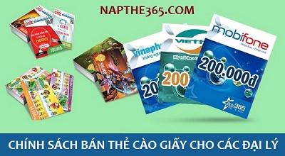 Chính sách bán thẻ cào giấy cho các đại lý tại Napthe365.com