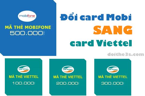 Hướng dẫn đổi card mobi sang Viettel