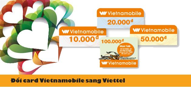 Cách đổi card Vietnamobile sang Viettel