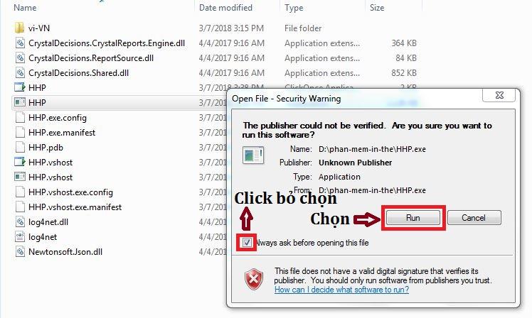 Phần mềm in mã thẻ 7