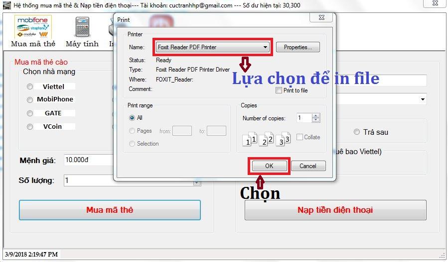 Phần mềm in mã thẻ 12