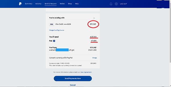 Nạp tiền vài tài khoản qua paypal mua thẻ cào